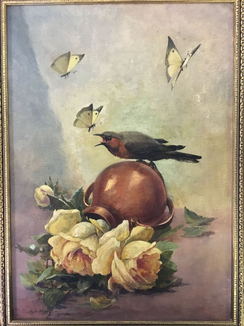 Oil on Canvas, Signed Ch. L. Mery - 2