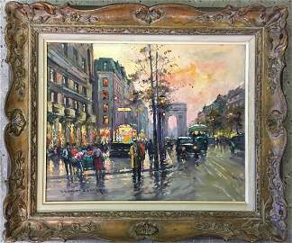 Edouard Leon Cortes  (1882 - 1969) Oil on Canvas.