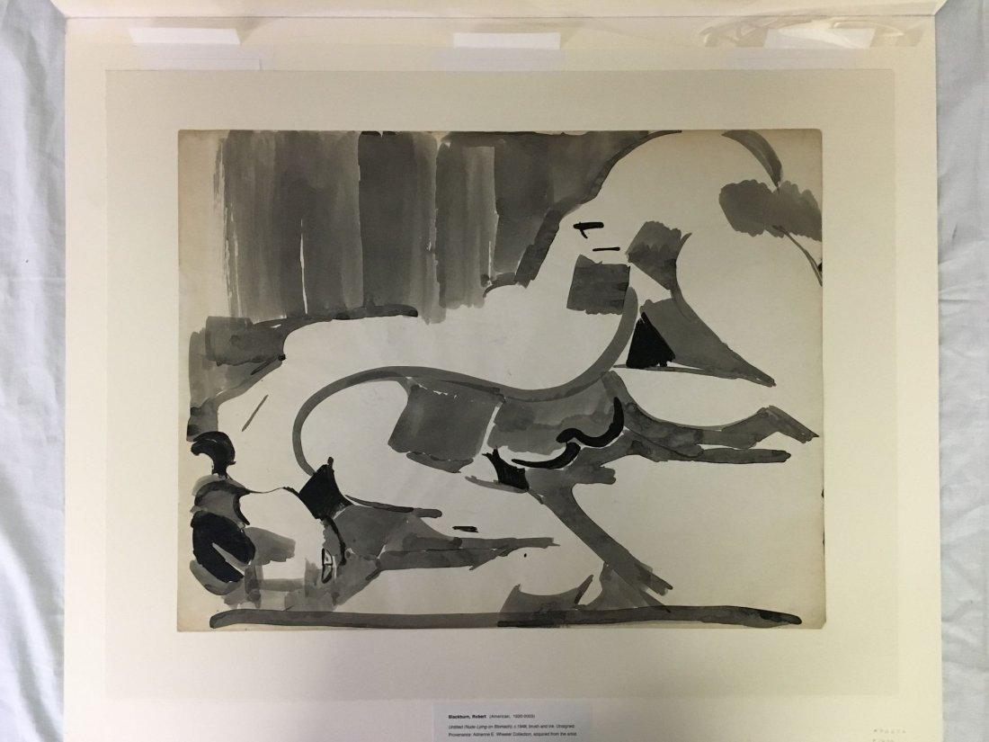 Robert Blackburn, Brush and Ink Abstract