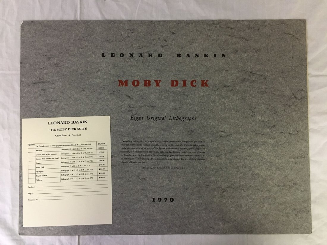 Leonard Baskin, Signed Moby Dick Suite 8 Lithos - 5