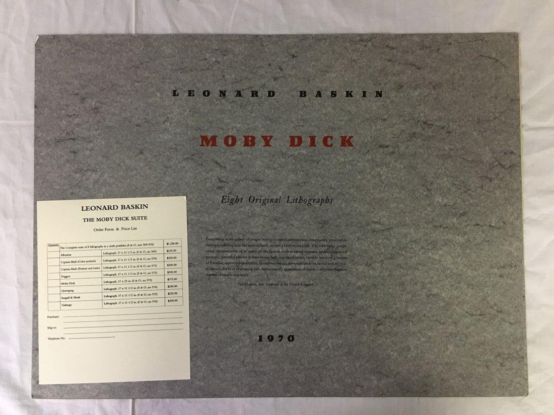 Leonard Baskin, Signed Moby Dick Suite 8 Lithos - 5