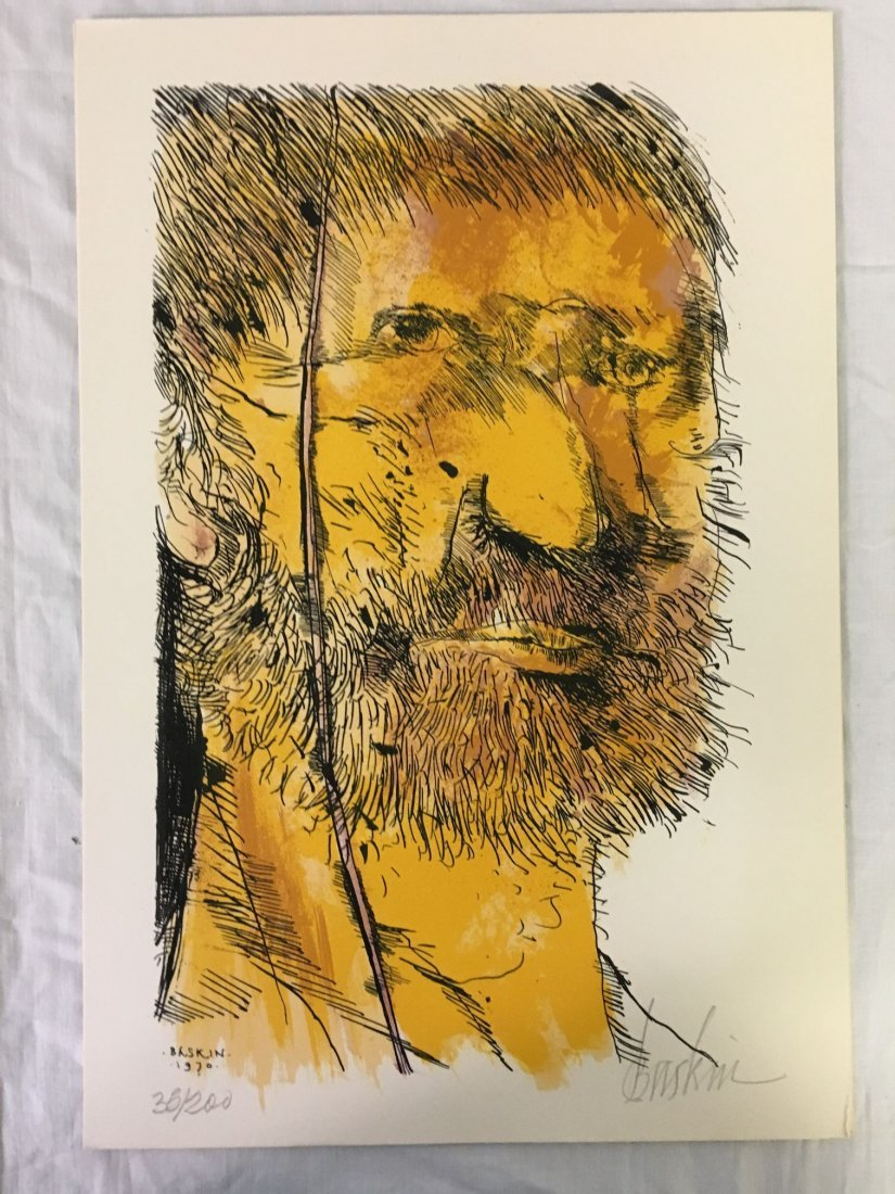 Leonard Baskin, Signed Moby Dick Suite 8 Lithos - 8