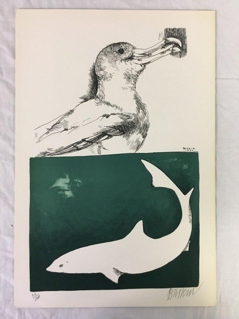 Leonard Baskin, Signed Moby Dick Suite 8 Lithos - 9