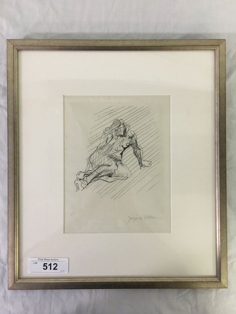 Jacques Villon, Signed Nude Etching