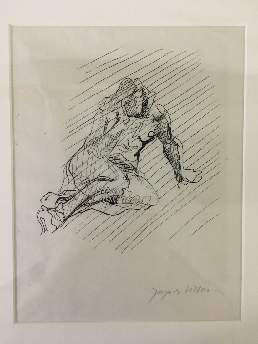 Jacques Villon, Signed Nude Etching - 2