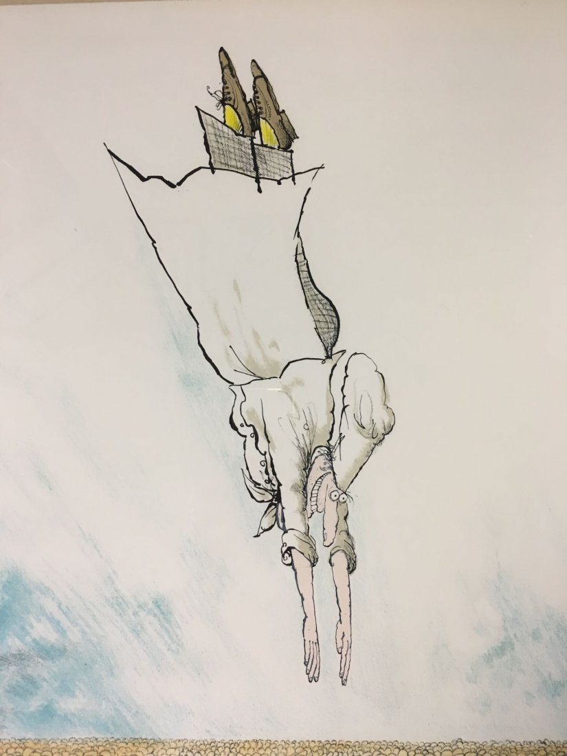 """Ronald Searle Signed Lithograph """"Specialite Chef"""" - 2"""