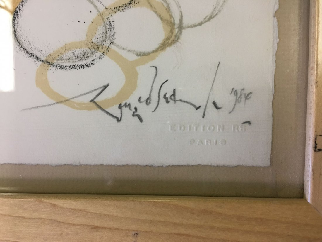 """Ronald Searle Signed Lithograph """"Specialite Chef"""" - 3"""