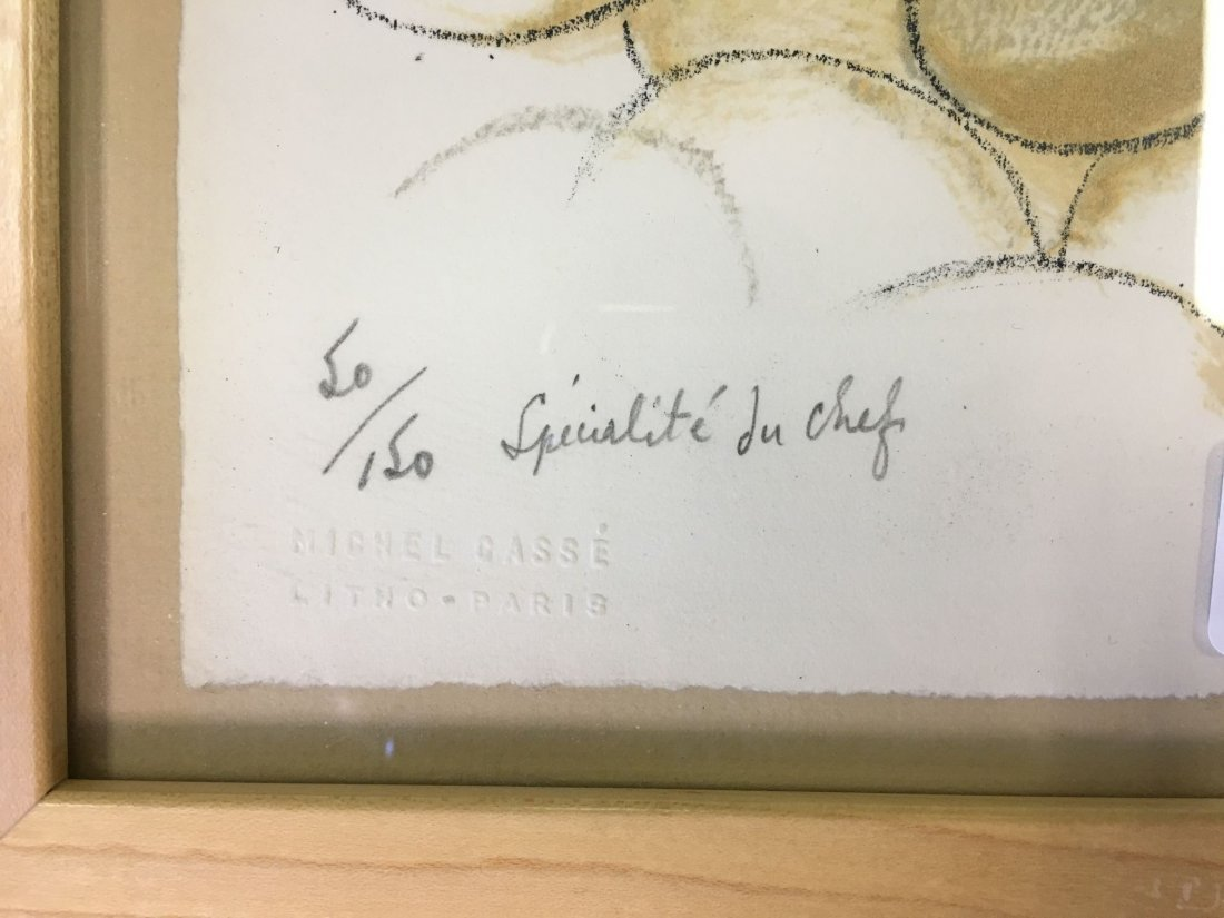"""Ronald Searle Signed Lithograph """"Specialite Chef"""" - 4"""