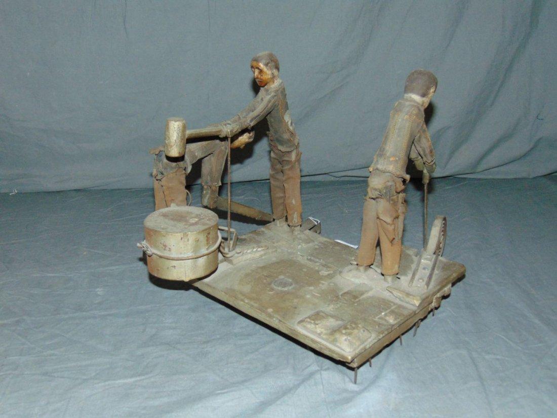 Wooden Folk Art Whirl-a-Gig - 2