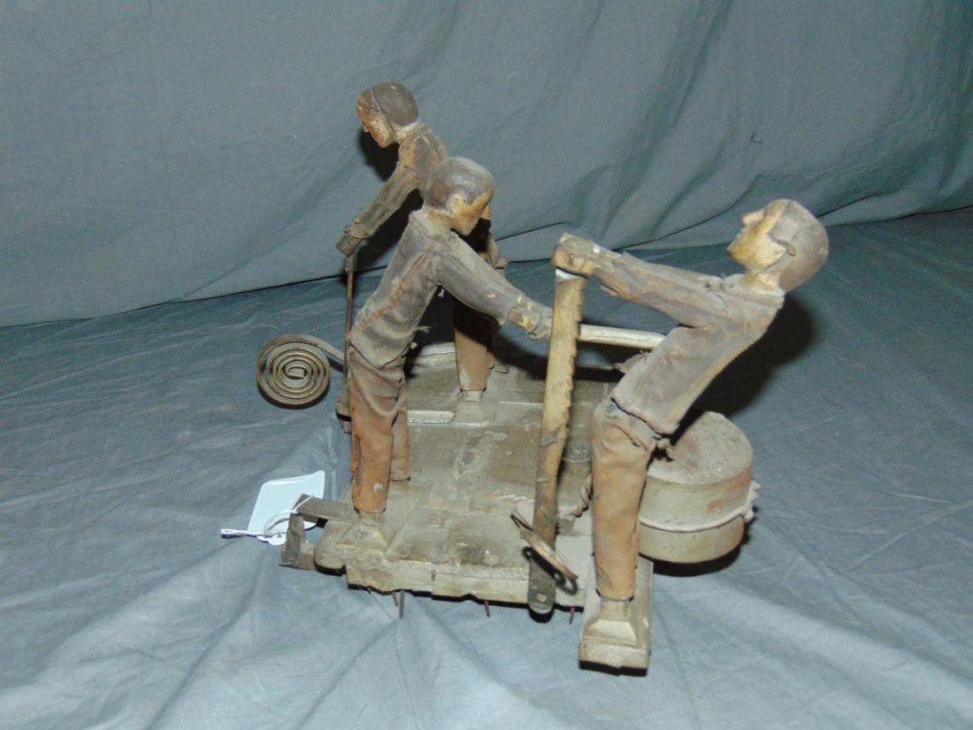 Wooden Folk Art Whirl-a-Gig - 3