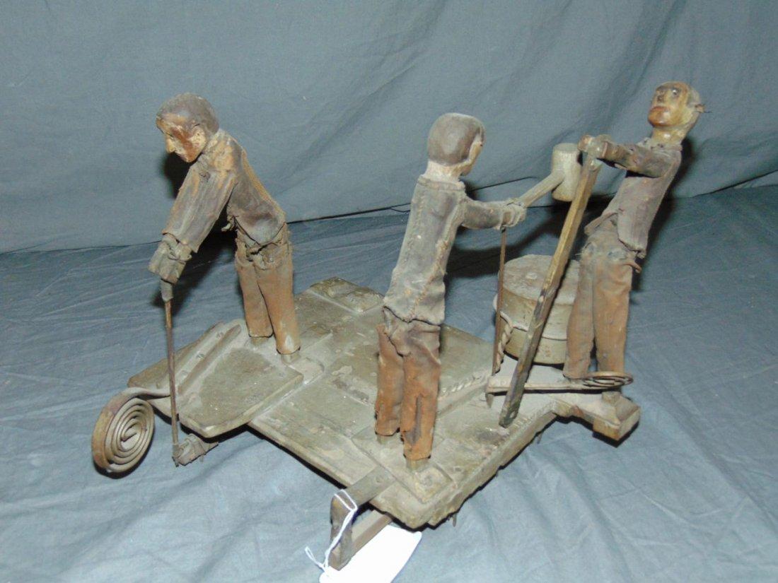 Wooden Folk Art Whirl-a-Gig - 4