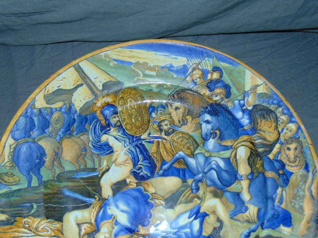 Early Majolica Hand Painted Charger - 2