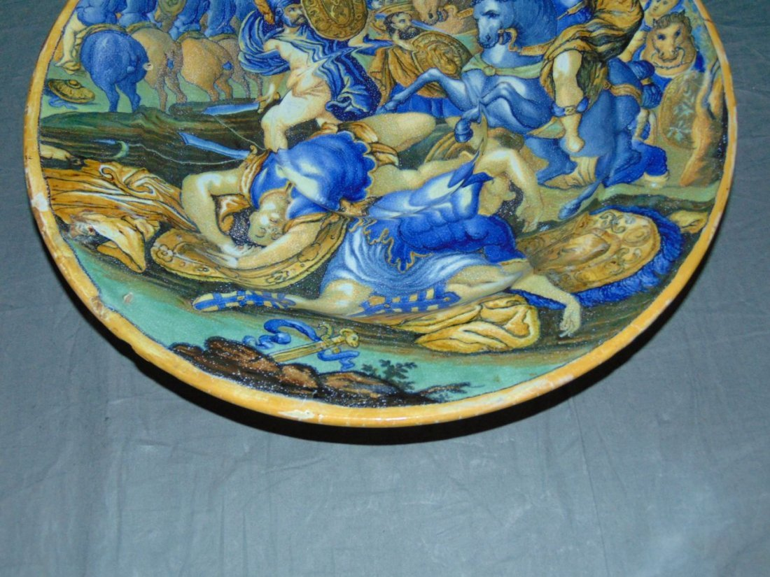 Early Majolica Hand Painted Charger - 3