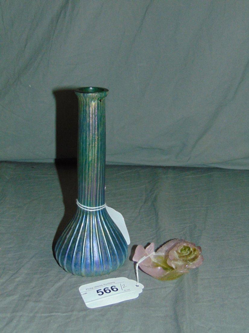 Daum Ring Tray/Bud Vase Att: Loetz