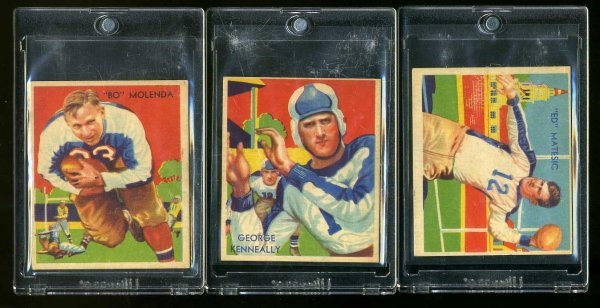 1: 1935 CHICLE FOOTBALL. LOT OF 3.