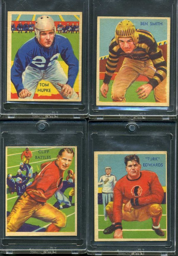 3: 1935 CHICLE FOOTBALL LOT OF 4.