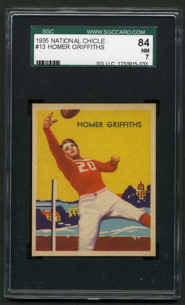 7: 1935 NATIONAL CHICLE FOOTBALL  #13