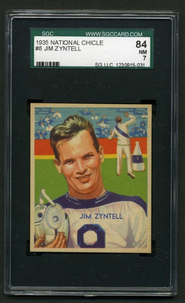 8: 1935 NATIONAL CHICLE FOOTBALL  #8