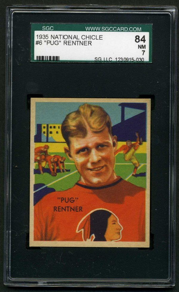 9: 1935 NATIONAL CHICLE FOOTBALL # 6.