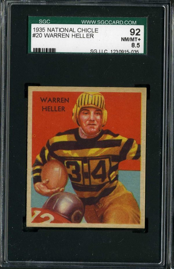 11: 1935 NATIONAL CHICLE FOOTBALL #20.