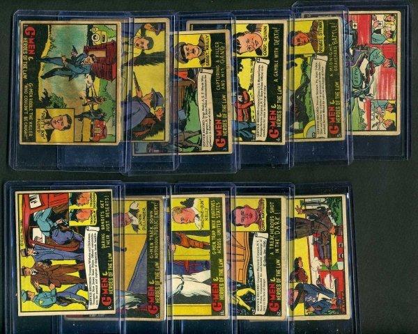 18: G-MEN 1936 GUM INC. LOT OF 11 CARDS.