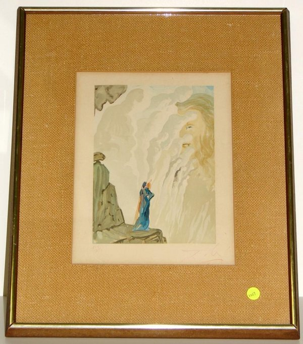 1007: DALI. WOOD ENGRAVING. SIGNED.