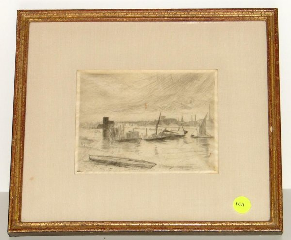 1011: JAMES MC NEILL WHISTLER. ETCHING.