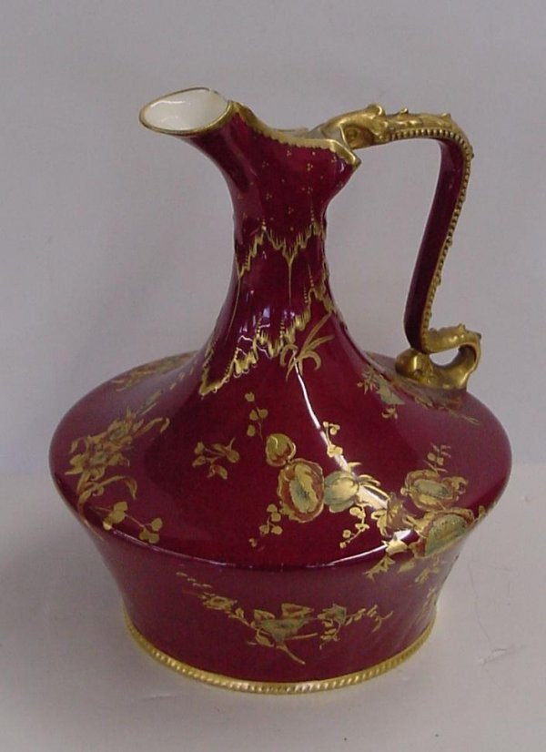 1014: ROYAL CROWN DARBY VASE.