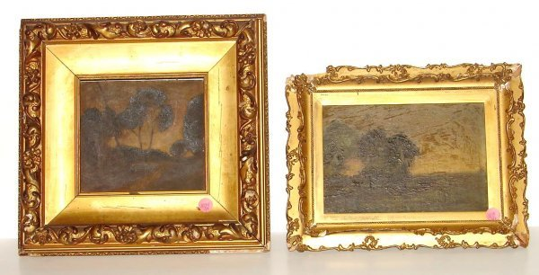 1094: LOT OF 2 EARLY AMERICAN PAINTINGS.