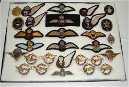 1235: MILITARY PINS & PATCHES. WORLD WAR TWO.