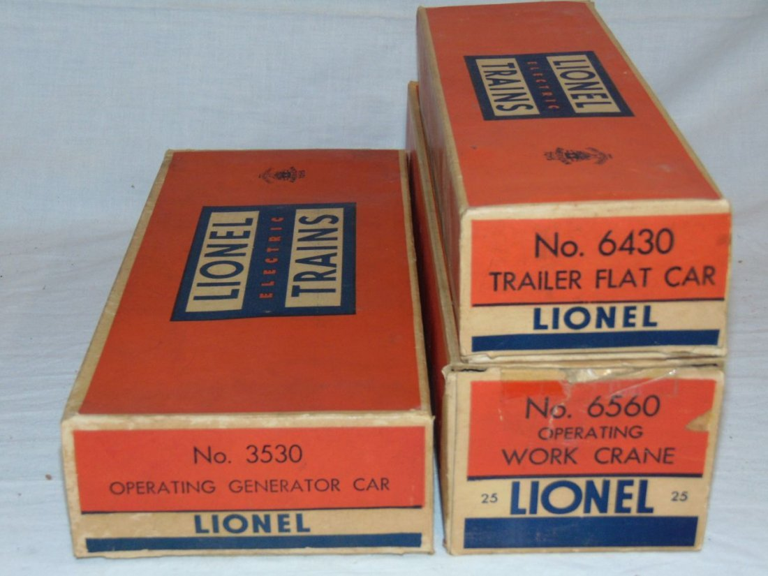Lionel Postwar Lot of 3 Better Boxed Freight Cars