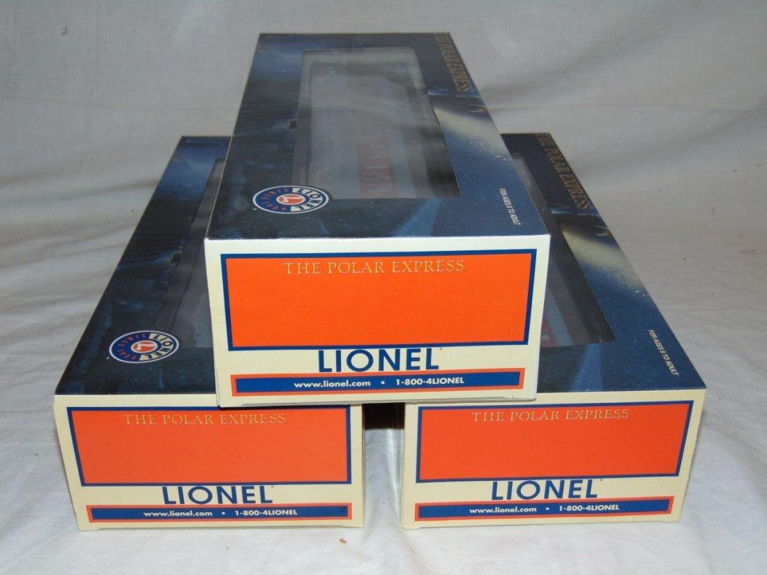 Lionel Lot of 3 Polar Express Passenger Cars