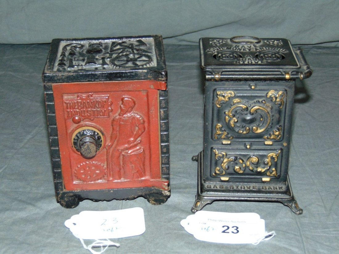 Lot of Two Cast Iron Still Banks.