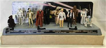 1977 Star Wars Collector's Action Stand w/Figures