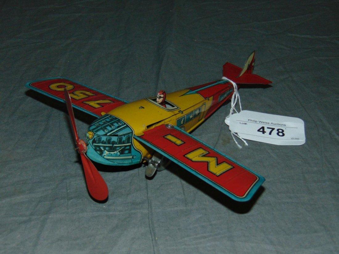 Early Ingap Tin Wind-Up Airplane.