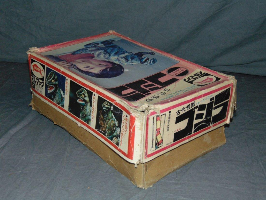 Rare, Boxed Bullmark Japanese Tin Litho Godzilla - 10