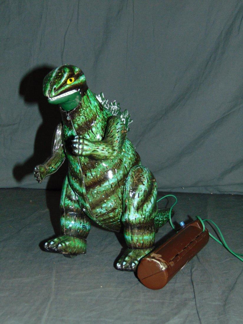 Rare, Boxed Bullmark Japanese Tin Litho Godzilla - 3