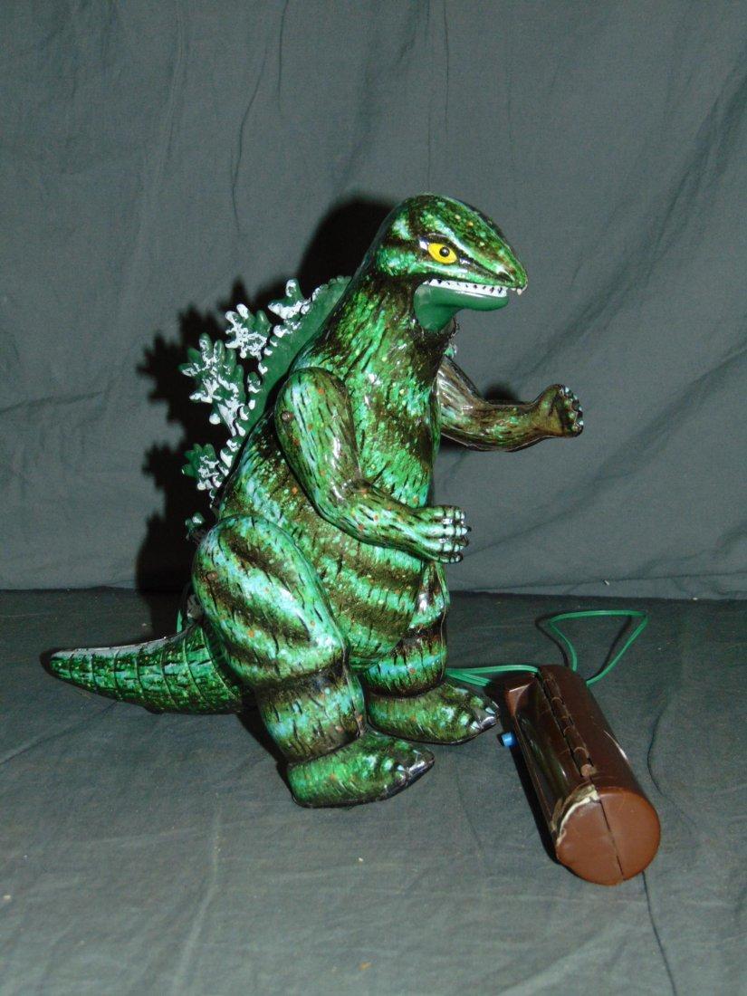 Rare, Boxed Bullmark Japanese Tin Litho Godzilla - 4