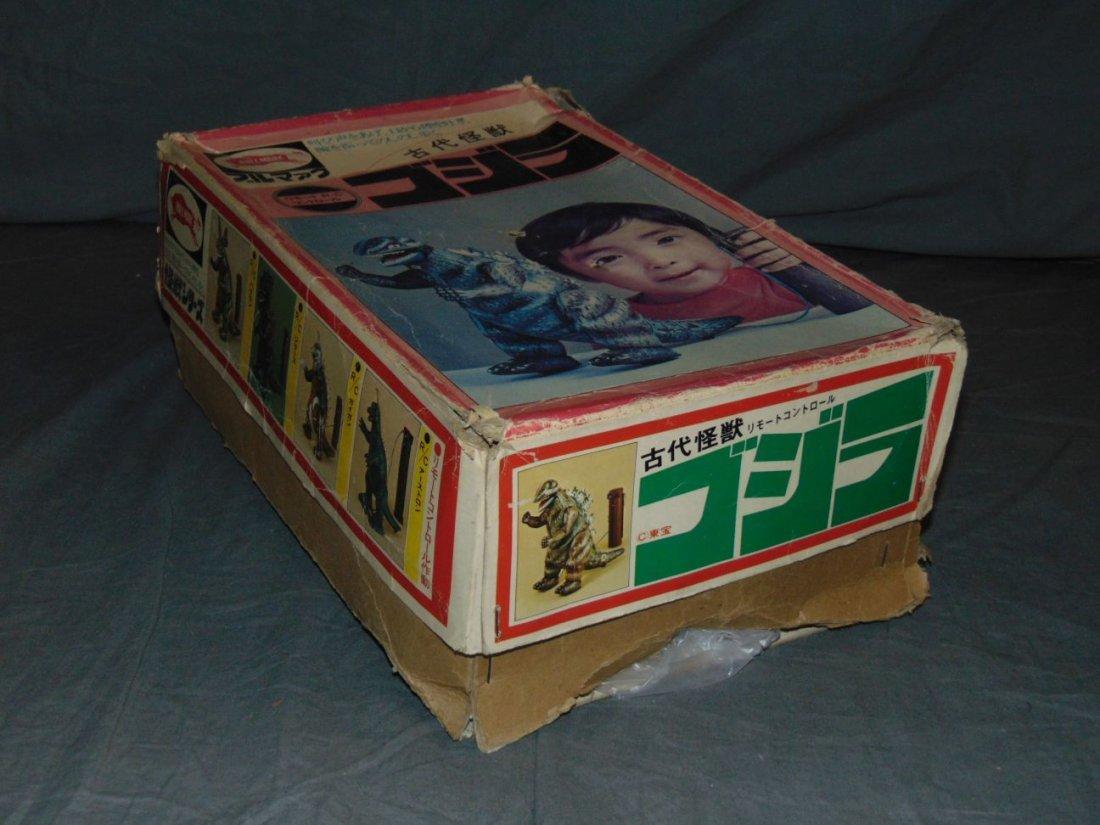 Rare, Boxed Bullmark Japanese Tin Litho Godzilla - 9