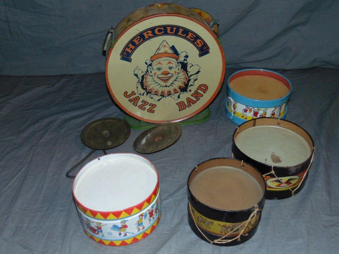 Chein Drum Toy Lot.
