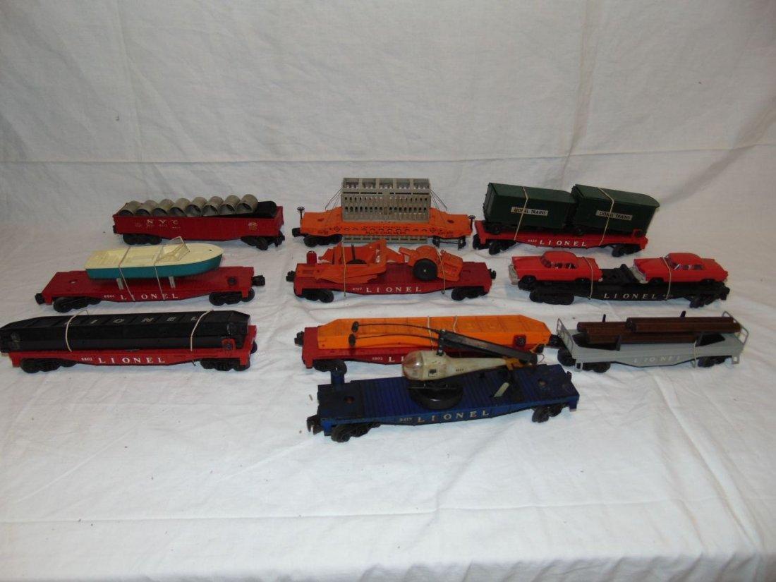 Lot of Postwar Lionel Freight Cars, Unboxed