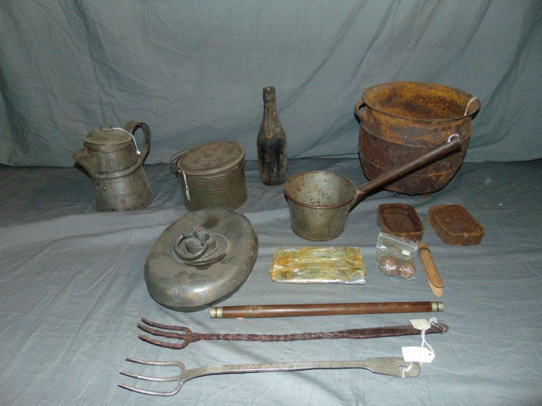 Vintage Civil War Era Relic and Implement Lot.