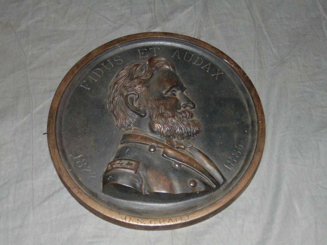 U.S. Grant Bronze Plaque.