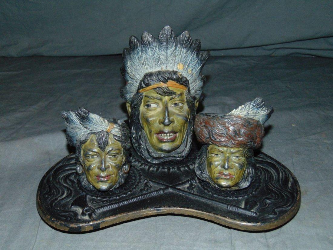 Native American Inkwell Set.