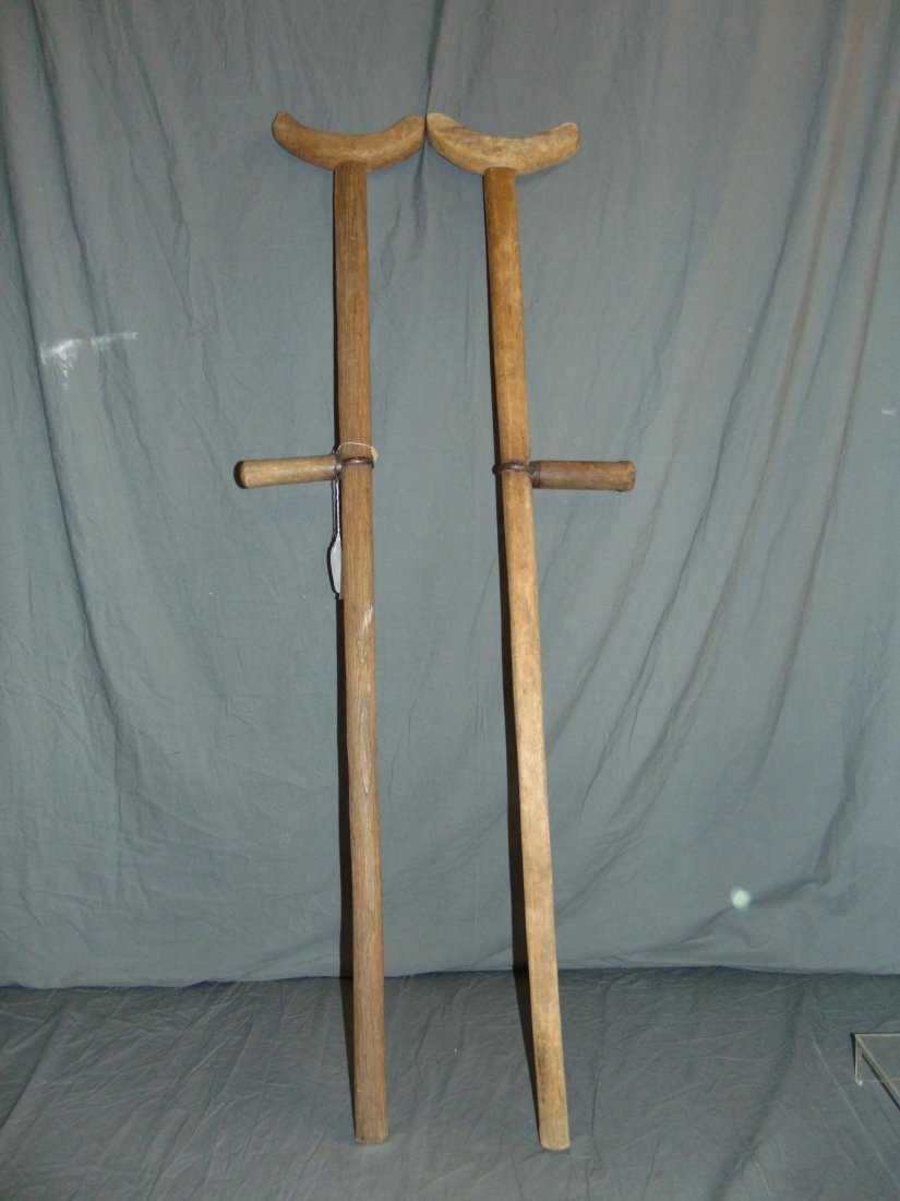Civil War Era Wooden Crutches