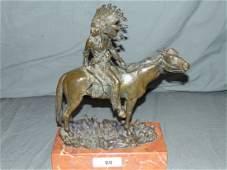 Carl Kauba (1865 - 1922) Bronze Indian.