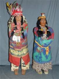 Skookum Doll Pair. Store Display.