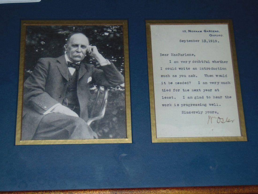 Sir William Osler 1849-1919. TLS.