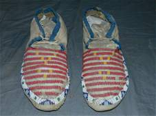 Pair of Early Native American Moccasins.