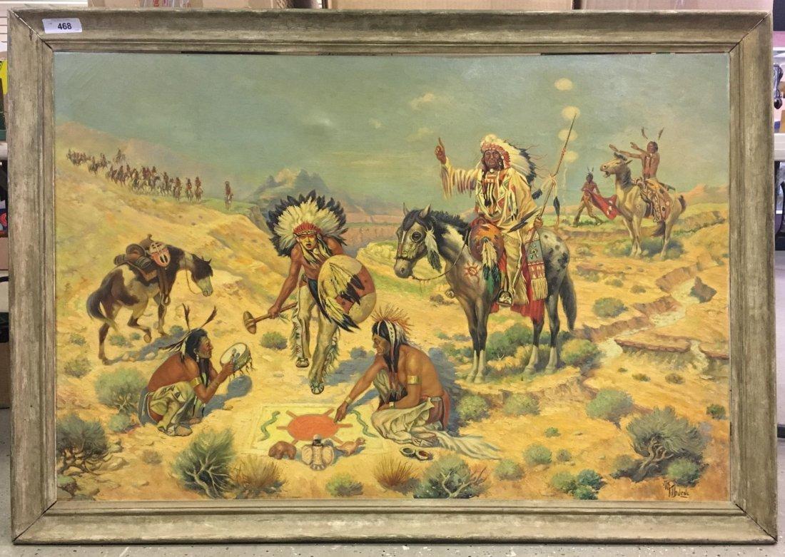 Albert Tilburne  (1887 - 1965) Oil on Canvas.